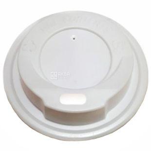 Кришка для одноразового стакана 250 мл, Біла, 50 шт., D75