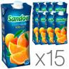 Sandora, Апельсиновый, 0,5 л, Сандора, Сок натуральный,  упаковка 15 шт.