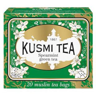 Kusmi Tea, Spearmint, 20 пак. х 2,2 г,  Чай Кусми Ти, Мята, зеленый