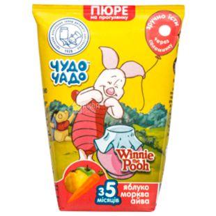 Чудо-Чадо, Пюре для малюків, Яблуко-морква-айва, з 3-х місяців, 130 мл