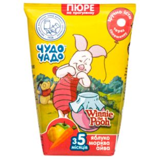Miracle-Chado, 0,130 l, mashed potatoes for babies, from 3 months, Apple-carrot-quince