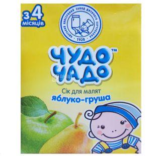 Чудо-Чадо, Яблуко-груша, 200 мл, Сік для дітей з м'якоттю, з 4 місяців