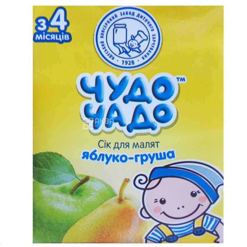 Чудо-Чадо, Яблоко-груша, 200 мл, Сок для детей с мякотью, с 4 месяцев