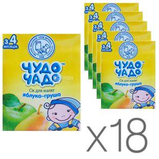 Чудо-Чадо, Яблуко-груша, 200 мл, Сік для дітей з м'якоттю, з 4 місяців, Упаковка 18 шт.