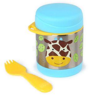 Skip Hop, Термос дитячий Жираф, зі столовим прибором, 0,325 л