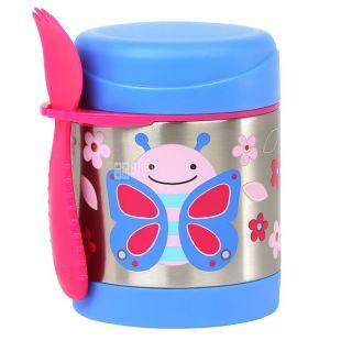 Skip Hop, Термос дитячий Метелик, зі столовим прибором, 0,325 л