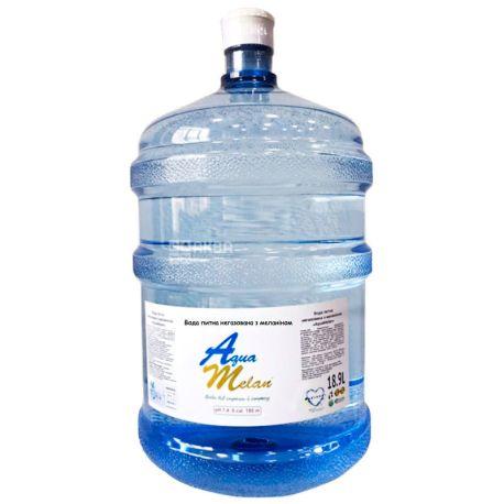 AquaMelan, Вода питьевая с добавлением меланина, 18,9 л