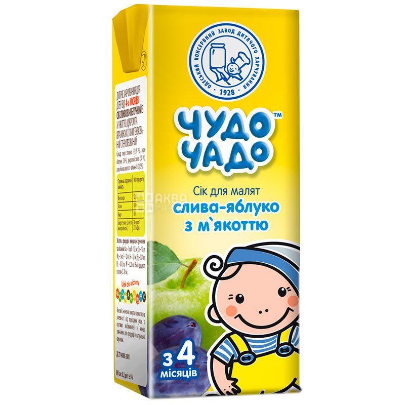 Чудо-Чадо, Слива-яблоко, 200 мл, Сок для детей с мякотью, с 4 месяцев