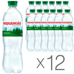 Morshinska, Lightly carbonated mineral water, 0.75 l, pack of 12 pcs., PAT