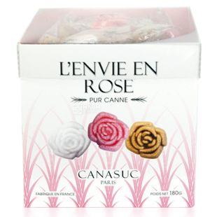 Canasuc, Сахар кусочками в коробке, Жизнь в розовых цветах, 180 г