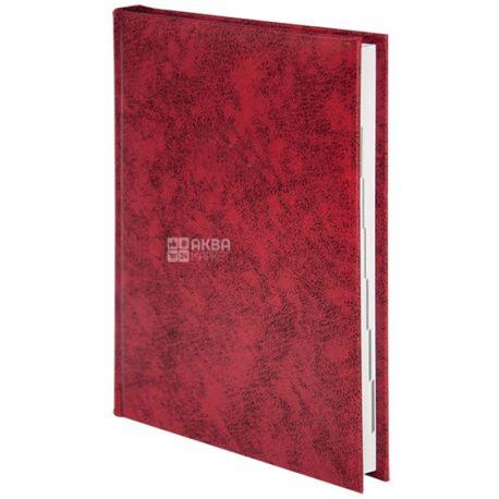 Buromax Base, Ежедневник недатированный, А5, красный