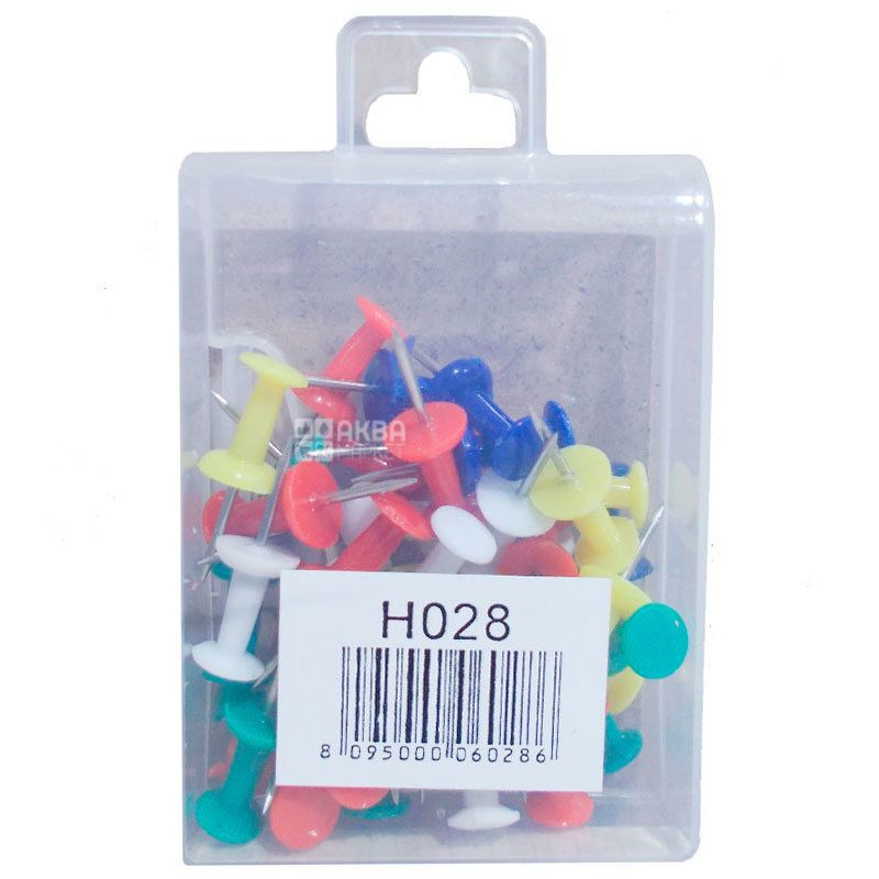 Aihao, Кнопки-гвоздики, цветные, 40 шт.