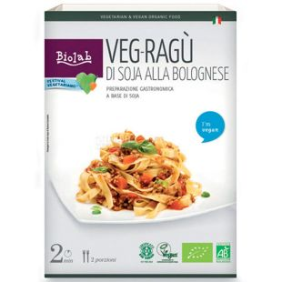 Sauce Bolognese with soya 250g, Biolab