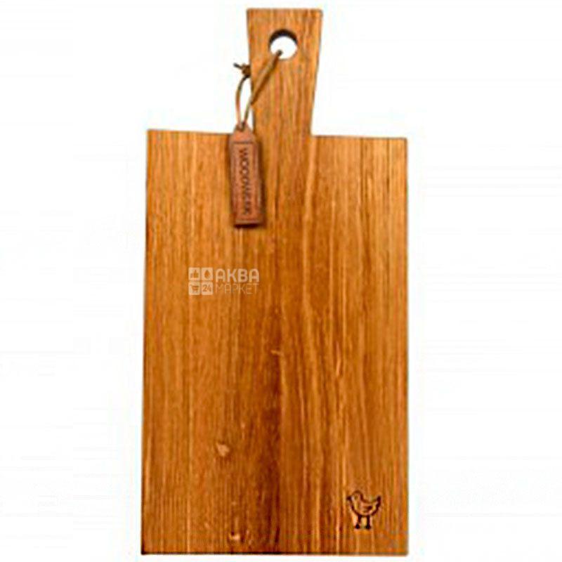 Woodwerk, Доска кухонная, Барт, прямоугольная, дерево, 25х50х3,5см