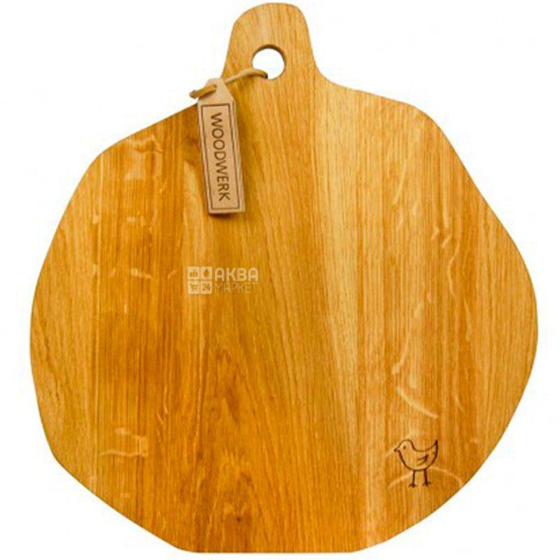 Woodwerk, Доска кухонная, Каспер, дерево, 35х38х3,5см