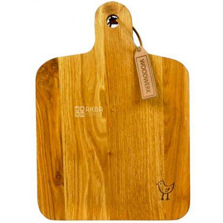 Woodwerk, Доска кухонная, Оливер, прямоугольная, дерево, 27х38х3,5см
