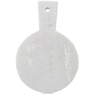 Boska Holland, Дошка для сиру, біла, кругла, мармур, 18,4х12,3 см