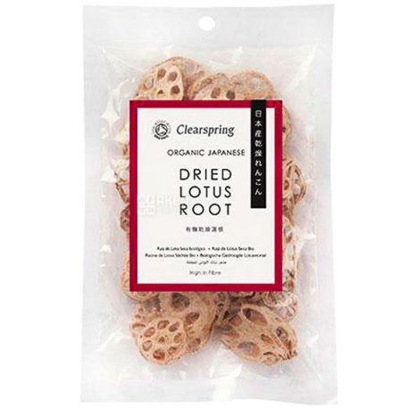 Clearspring, Корень лотоса органический сушеный, 30 г