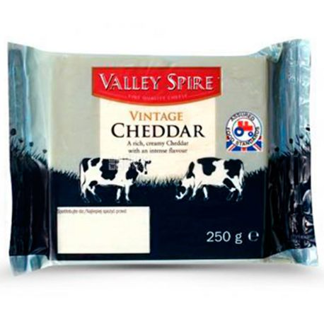Valley Spire Cheddar, Сыр Чеддер 35%, 250 г