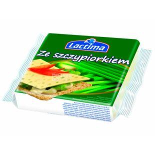 Lactima, Сыр тостовый с зеленью, 130 г