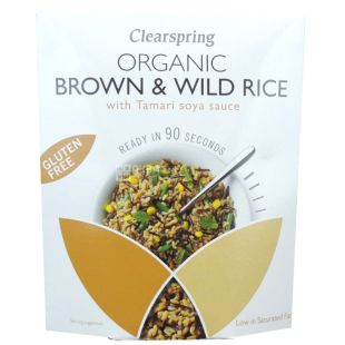 Clearspring, Blend of brown and wild rice with Tamara sauce, gluten-free, 250 g