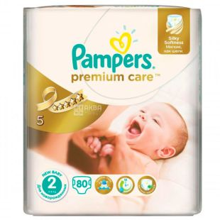 Pampers, підгузники, 80 шт., 3-6 кг, Premium Care