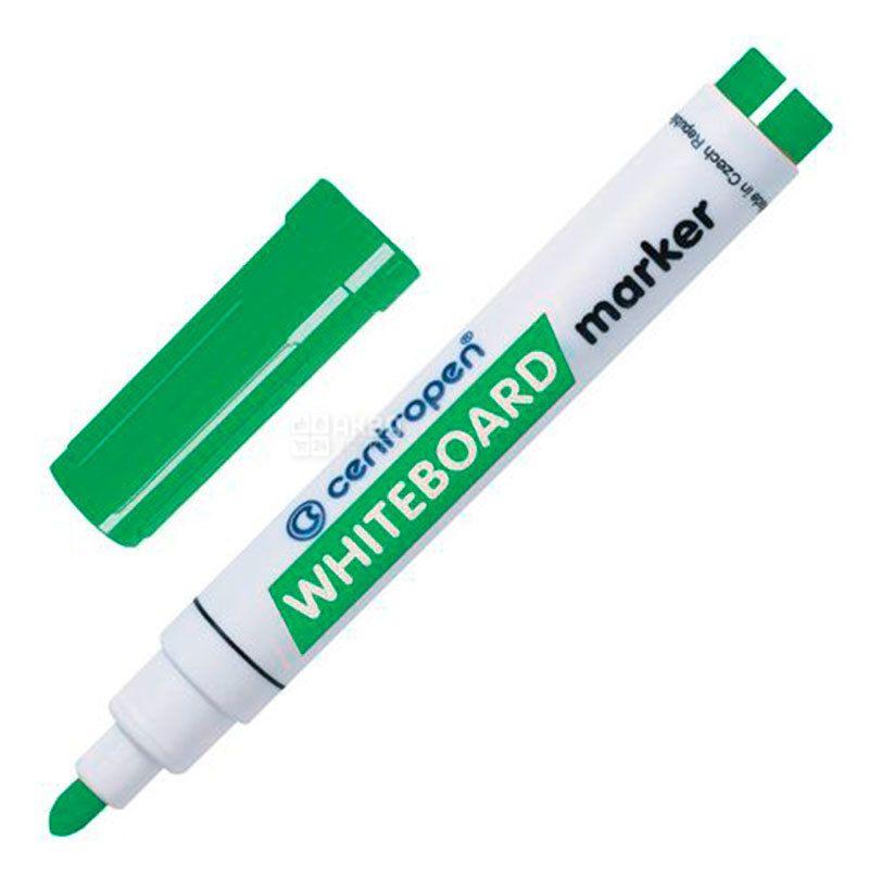 Centropen, Маркер для досок, зеленый, 2,5 мм