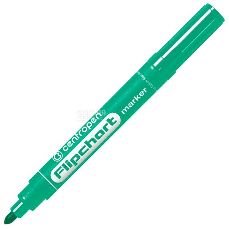 Centropen, Маркер для флипчартов, зеленый, 2,5 мм