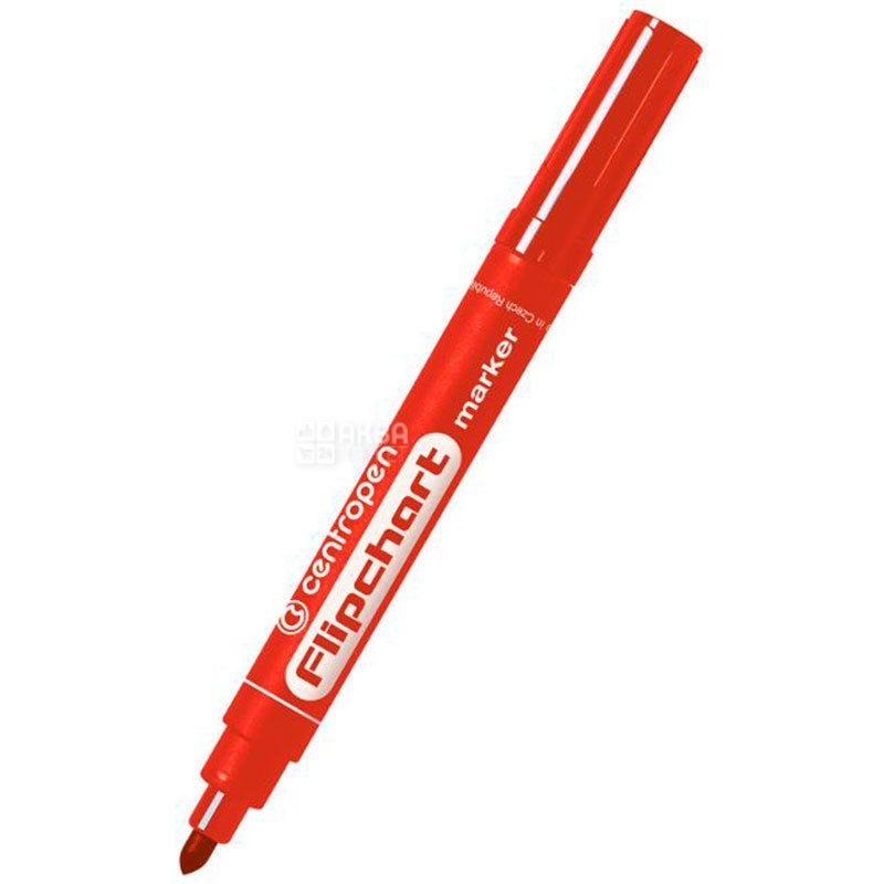 Centropen, Маркер для флипчартов, красный, 2,5 мм