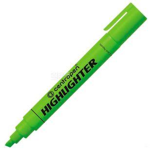 Centropen, Маркер текстовый, зеленый, 1-4,6 мм