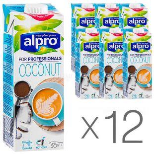 Alpro Coconut For Professionals, упаковка 12шт по 1л Кокосовое молоко Профешинал