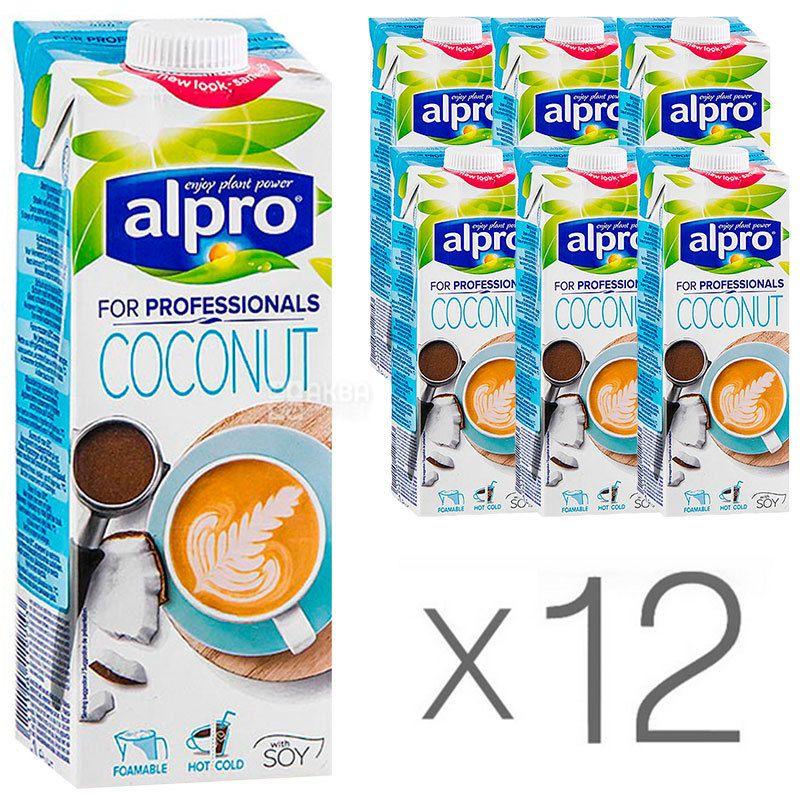 Alpro, Coconut for Professionals, Упаковка 12 шт. по 1 л, Алпро, Профешнл, Кокосовое молоко