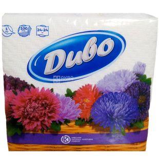 Divo, 100 pcs, napkins, single-layer, m / s