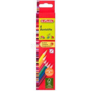 Herlitz Pretty Pets, gel pencils in plastic case, 6 colors