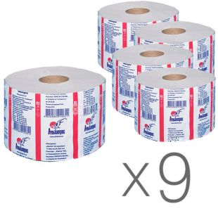Albatross Jumbo, Toilet paper, single layer, 100 m, pack of 9 pcs.