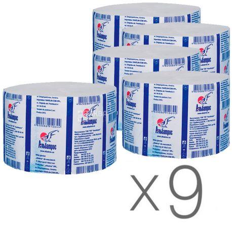 Альбатрос, 9 упаковок по 100 м, Туалетная бумага Джамбо, однослойная