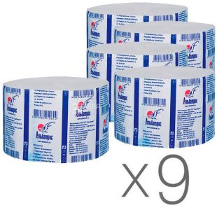 Albatross Jumbo, Toilet paper, waste, single layer, 100 m, pack of 9 pcs.