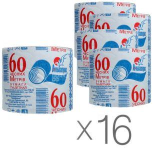 Albatross, Toilet waste paper, 60 m, pack of 16 pcs.