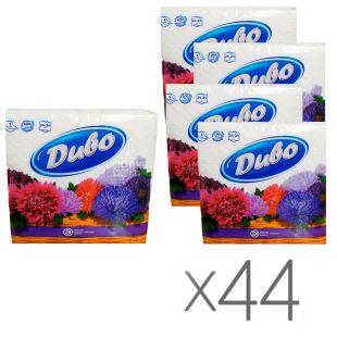 Диво, 44 упаковки по 100 шт., Серветки столові, одношарові, 24x24 см, білі
