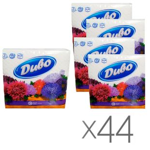 Divo, White napkins, single-layer, 24 x 24 cm, 44 packs of 100 pcs.