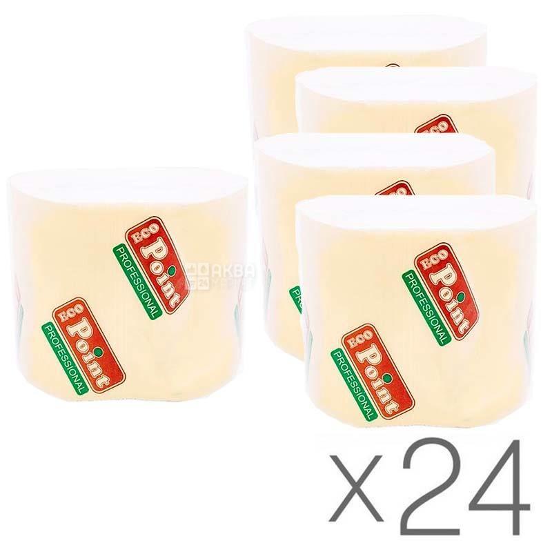 Mirus, Упаковка 24 шт. по 300 л.,Туалетная бумага Мирус, Листовая, 2-х слойная