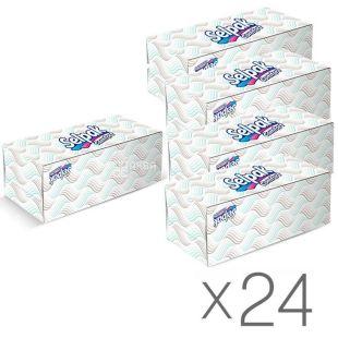 Selpak Comfort, 24 упаковки по 150 шт., Серветки косметичні Селпак Комфорт, двошарові, 21х21 см, білі