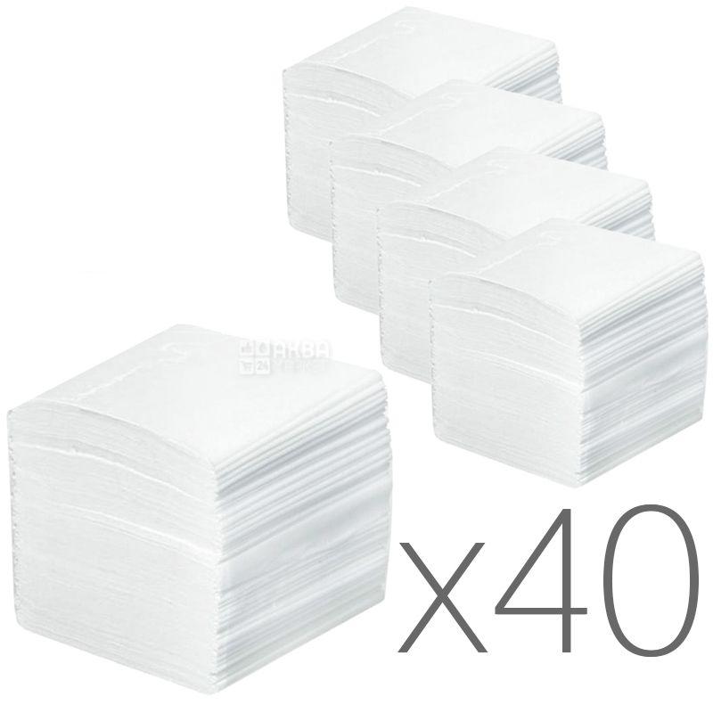 КПК, 40 упаковок по 200 листов, Туалетная бумага, 2-х слойная