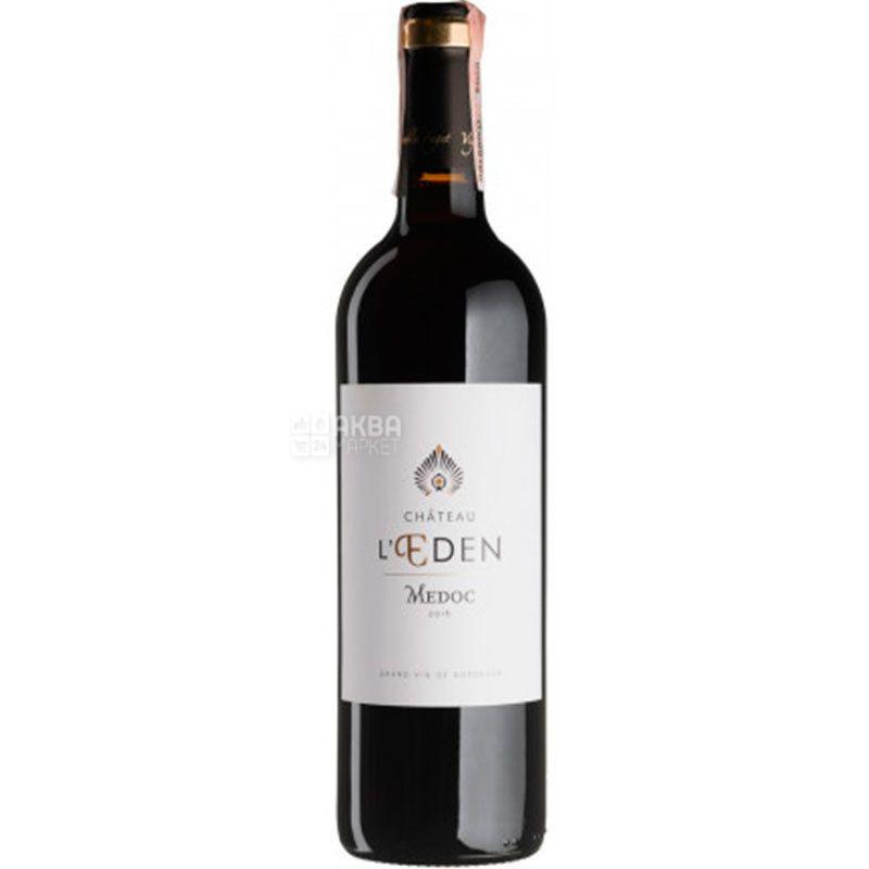 Chateau L`Eden 2016 Lapeyronie, Вино червоне сухе, 0,75 л