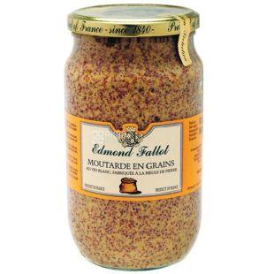 Edmond Fallot Dijon mustard in grains with white wine, 850 g