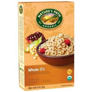 Nature's Path Whole O's, 326 г, Мюсли Нейтчес Пат, смесь злаков, органические, сухой завтрак, быстрого приготовления