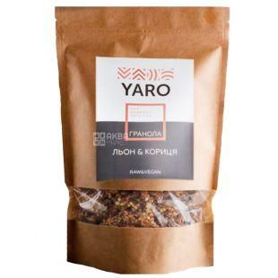 Yaro, 300 г, Гранола Яро, із зеленої гречки, насіння льону і кориця
