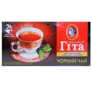 Princess Gita, black tea in a cardboard box, 24 pack