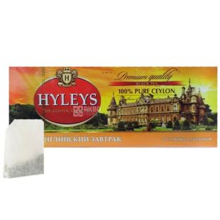 Hyleys English Breakfast Tea, 20 пак, Чай черный Хэйлис, Английский завтрак