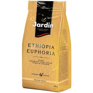 Jardin Ethiopia Euphoria, 250 г, Кофе Жардин Эфиопия, средней обжарки, молотый